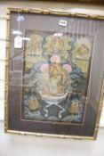 A Tibetan painted thangka, image 44 x 32cm
