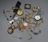 Assorted costume jewellery and watches etc.