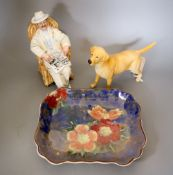A Beswick porcelain labrador, Doulton figure 'Taking things easy' HN2680 and a Royal Doulton