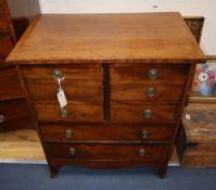 A Regency mahogany commode chest, width 70cm, depth 44cm, height 79cm