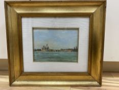 Lynette Hemmant (1938-) oil on board, Santa Maria Salute, Venice, signed and dated '82, 15 x 20cm