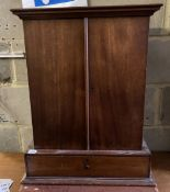 A late Victorian mahogany hanging apothecary cabinet, width 55cm, depth 27cm, height 67cm