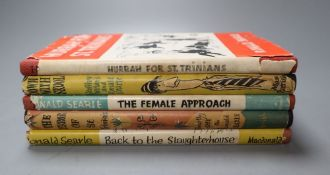 Searle, Ronald - five books, each with dust wrapper