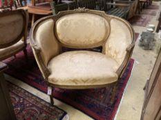 A Louis XVI style fauteuil
