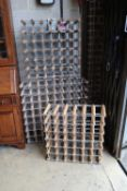 Three wine racks (total capacity 142 bottles)
