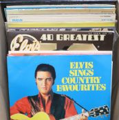 Nineteen assorted albums - mainly Elvis PresleyCONDITION: Elvis Sings Country FavouritesHistory of