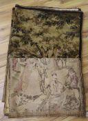 Three machined tapestry panels