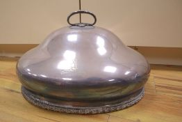 A silver plated meat dish cover