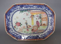 An 18th century Chinese famille rose dish