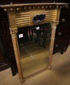 A Regency giltwood pier glass, width 64cm, height 98cm