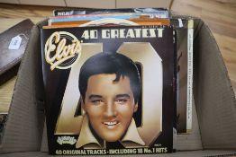 Seventeen assorted albums, mainly Elvis PresleyCONDITION: Elvis 40 GreatestElvis Rock 'N' OnElvis
