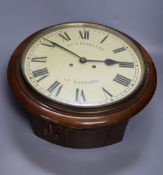 An A.F. Pears wall clock, with bell-striking movement, dial 27cm