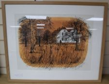 Robert Tavener (1920-2004), lithograph, 'Paddock', signed in pencil 11/25, 34 x 46cm