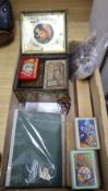 A collection of games including a solitaire board, cards, etc.