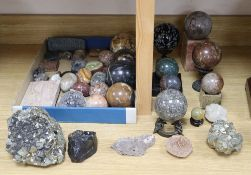 An extensive collection of specimen marbles and minerals