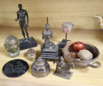 A group of antiquities including pre-Columbian, Indian bronzes, etc.