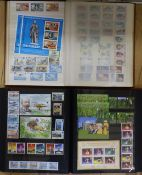 A domestic stamp collection - ten albums and loose, including mint Channel Islands