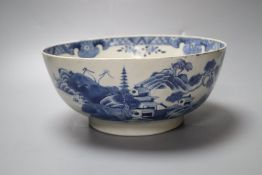 A Chinese blue and white bowl, 25cm, restoredCONDITION: Professionally restored with some re-