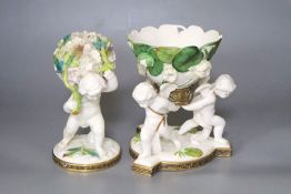 Two Moore's cherub pot pourri bowls, retailed by T. Goode & Co, tallest 20cmCONDITION: Largest is