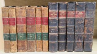 Six Law Journals, 1823-1848, and five Scots Law Times, 1923-27