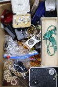 A large quantity of assorted costume jewellery including a diver's watch