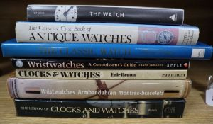 Clocks and watches, seven reference books