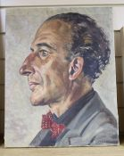 Mary Brooks, oil on canvas, Portrait of a gentleman, signed, 51 x 41cm, unframed