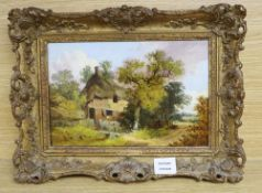 John Benney Ladbrooke (1803-1874), oil on canvas, 'A Norfolk Cottage', monogrammed and dated 1878,