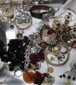 A group of assorted jewellery including costume and 925.