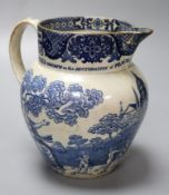 A rare pearlware jug commemorating the Peace of Amiens, c.1802, probably Swansea Pottery,