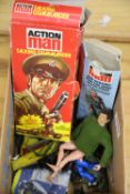 Action man by Palitoy and accessories, including boxed Talking Commander