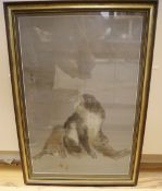 A Japanese silkwork picture of monkeys