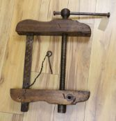 A Coach-builders vice clamp, 19th century