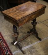 A Victorian mahogany work table in the Gillows style, width 64cm depth 40cm height 74cm