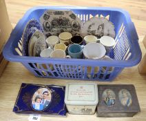 A collection of mixed Victorian and later Commemorative ceramics
