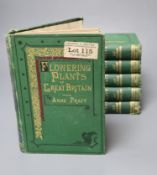 Pratt, Anne - Flowering Plants, Grasses and Ferns of Great Britain, 6 vols