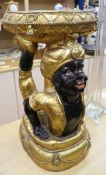 A composition blackamoor stool, height 57cmCONDITION: General wear; no structural damage other