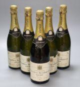 Five bottles of Charles Heidsieck 1964 vintage champagne