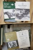A collection of 1970's Bentley Driver's Club Review and Rolls Royce Club bulletin magazines