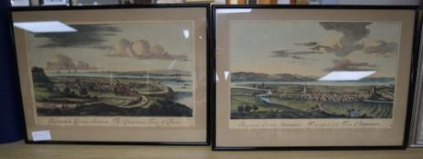A pair of coloured engravings, Views of Innerness and Ross, 27 x 43cm
