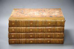 Britton, John - The Architectural Antiquities of Great Britain, 4 vols (of 5) qto, contemporary