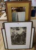 Four limited edition prints, Ballymaloe House, Cork; January Afternoon, Wiltshire; Charleston Garden