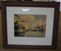G. Zago, watercolour, Grand Canal, Venice, signed, 19 x 27cm