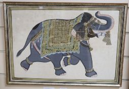 An Indian painting of an elephant, 31 x 46cm