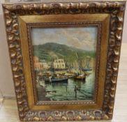 Mario R. Allegretti (b. 1945), oil on panel, 'Tavoletta', signed, with gallery certification, 23 x