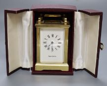 A Mappin & Webb carriage timepiece, in original case