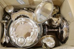 A canteen of Ryals plated flatware and miscellaneous plated items, including trays, tazzas, sundry