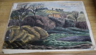 G.H. Cliffe, four watercolours, Broken marble and Italian landscapes, one inscribed, largest 39 x