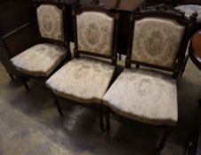 A set of six late 19th / early 20th century French dining chairs