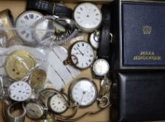 Assorted wrist watches and movements including Rotary and assorted pocket watches and movements.